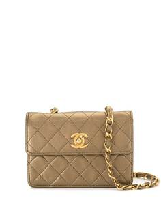 Chanel Pre-Owned стеганая мини-сумка через плечо 1990-х годов