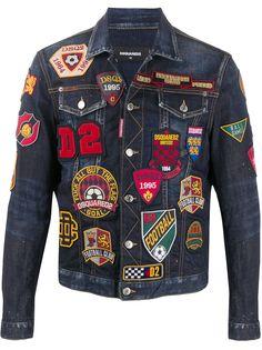Dsquared2 джинсовая куртка с нашивками