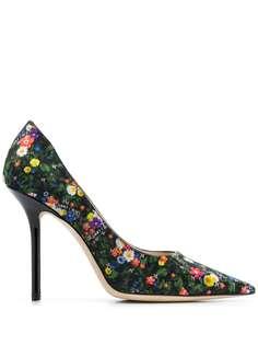 Jimmy Choo туфли-лодочки Love 100 с цветочным принтом