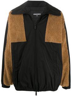 Dsquared2 куртка на молнии с контрастными вставками