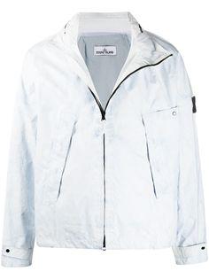 Stone Island куртка на молнии с эффектом потертости
