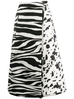 Ports 1961 юбка миди А-силуэта с контрастным принтом