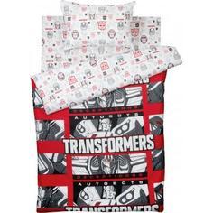 Комплект постельного белья детский Transformers «Decepticons» полутораспальный бязь цвет красный/белый