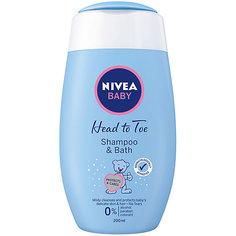 Шампунь для волос и пена для купания Nivea Baby, 200 мл