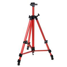 Мольберт телескопический, тренога, металлический, красный Calligrata