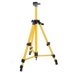 Мольберт телескопический, тренога, металлический, жёлтый, размер 51-153 см Calligrata