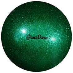 Мяч для художественной гимнастики, блеск, 18,5 см, 400 г, цвет изумрудный Grace Dance