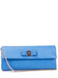 Кожаный клатч Vara 0643643/голубой S.Ferragamo