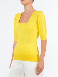 Шелковая футболка FN106K/желт Dolce & Gabbana
