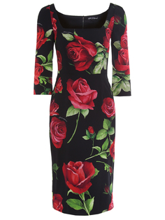 Платье-футляр шёлковое F6F5PT FSAY1 HN01A Dolce & Gabbana