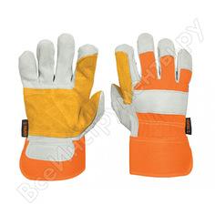 Рабочие перчатки truper усиление на ладонях, подкладка из полиэстера gu-teca-r 14246