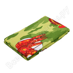 Вафельное полотенце-простынь банные штучки, цветное с рисунком, 80х150 см 32071