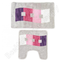 Набор ковриков для ванной комнаты milardo 50x80+50x50 см, 480pa58m13