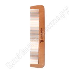 Деревянная расческа-гребень с деревянными зубчиками банные штучки vortex 17.5х4 см 51022
