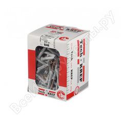Дюбель-гвоздь tech-krep полипропилен sm l 6х40 пот. манжета 200 шт коробка 130161