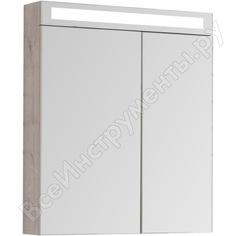 Зеркальный шкаф dreja rus max 70 с led-освещением, дуб кантри/лдсп 77.9008d