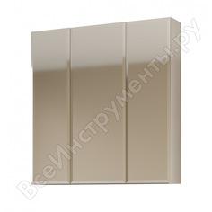 Зеркало-шкаф marka one 80, 3 двери, белый у37180
