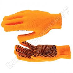Вязаные полиакрилонитрильные перчатки плюшевого переплетения 10 класс сибртех 67768