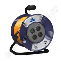 Удлинитель партнер-электро powerline 4 гн. с/з пвс 3х0,75 10a 20м uk104b-420db