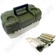 Рыболовный пластмассовый ящик salmo 6 полок 06 2706