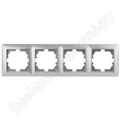 Рамка intro 450403 на 4 поста, су, solo, алюминий б0043426