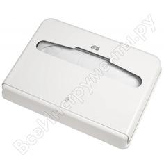 Диспенсер для покрытий на унитаз tork покрытия 1/2 сложения, белый 344080 600300