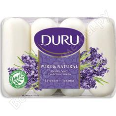 Туалетное мыло duru pure&natural комфорт/лаванда, 4*85 г s-603b 1688