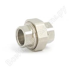 """Разъемное соединение uni-fitt в 1"""" с прокладкой o-ring, никелированное 655n4000"""