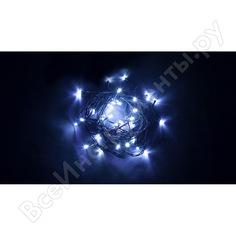 Гирлянда feron 230v 60 led синий, ip 20, шнур 1.5м, cl04 32300