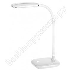 Настольный светильник эра nled-450-5w-w белый б0018825