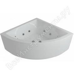 Угловая ванна aquatek юпитер вклеенный каркас 00000002226