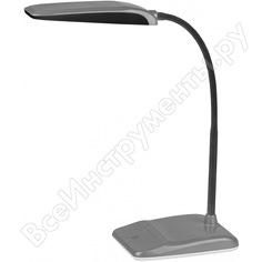 Настольный светильник, серебро эра nled-447-9w-s б0017433