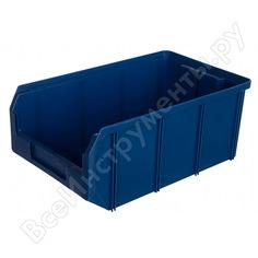Пластиковый синий ящик 341х207х143мм стелла v-3