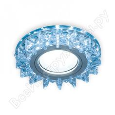Точечный светильник gauss backlight кристалл/хром gu5.3 led подсветка 4100k bl038