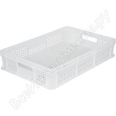 Перфорированный морозостойкий ящик с ручкамитара 600х400х120 мм, белый 16388
