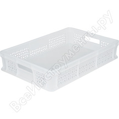 Морозостойкий ящик с ручками тара 600х400х120 мм, белый 16391