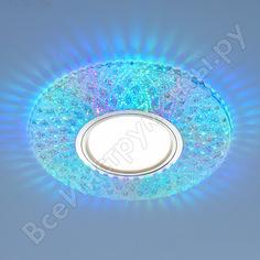 Встраиваемый светильник elektrostandard 2220 mr16 / cl прозрачный подсветка мульти a041527