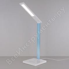 Светодиодный настольный светильник elektrostandard tl90510 / lori белый/голубой a039564