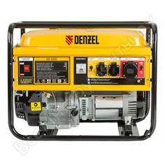 Бензиновый генератор denzel ge 6900 5,5 квт, 220в 50гц, 25 л, ручной старт 94637