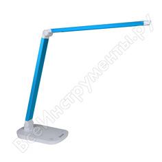 Настольный светильник uniel tld-521 blue/8w//led/800lm/5000k/dimmer/цвет-синий металлик 10084