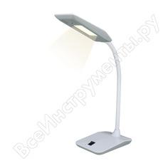 Настольный светильник uniel tld-545 grey-white/led/350lm/3500k, 4w. ul-00002232