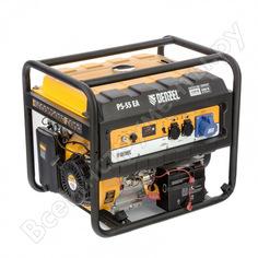 Бензиновый генератор denzel ps 55 ea, 5,5 квт, 230в, 25л 946874