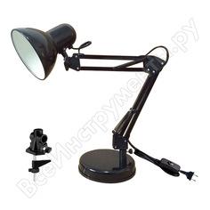 Настольный светильник ультра лайт mt2001 a/c осн+струбц. 40вт 220в лн е27, черный 924