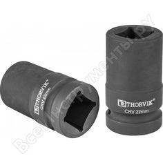 Головка торцевая 4-х гранная для ручного гайковерта 22 мм thorvik 52773
