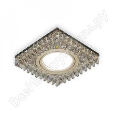 Точечный светильник gauss backlight шампань/кристалл/хром gu5.3 led подсветка 2700k bl033