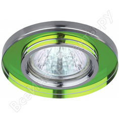 Светильник эра dk7 ch/mix декор стекло mr16,12v/220v, 50w, круглое хром/мульти c0043737
