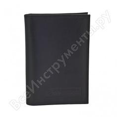 Бумажник водителя автостоп black натуральная кожа бвл3л