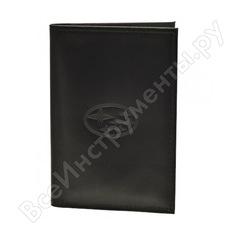 Бумажник водителя автостоп black натуральная кожа бвл5л-17