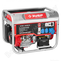 Бензиновый генератор зубр зэсб-6200-эа