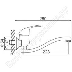 Настенный смеситель ledeme картридж 40 мм l4629-в 807914